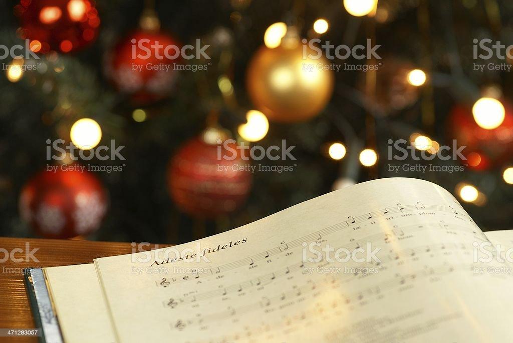 Christmas carol stock photo