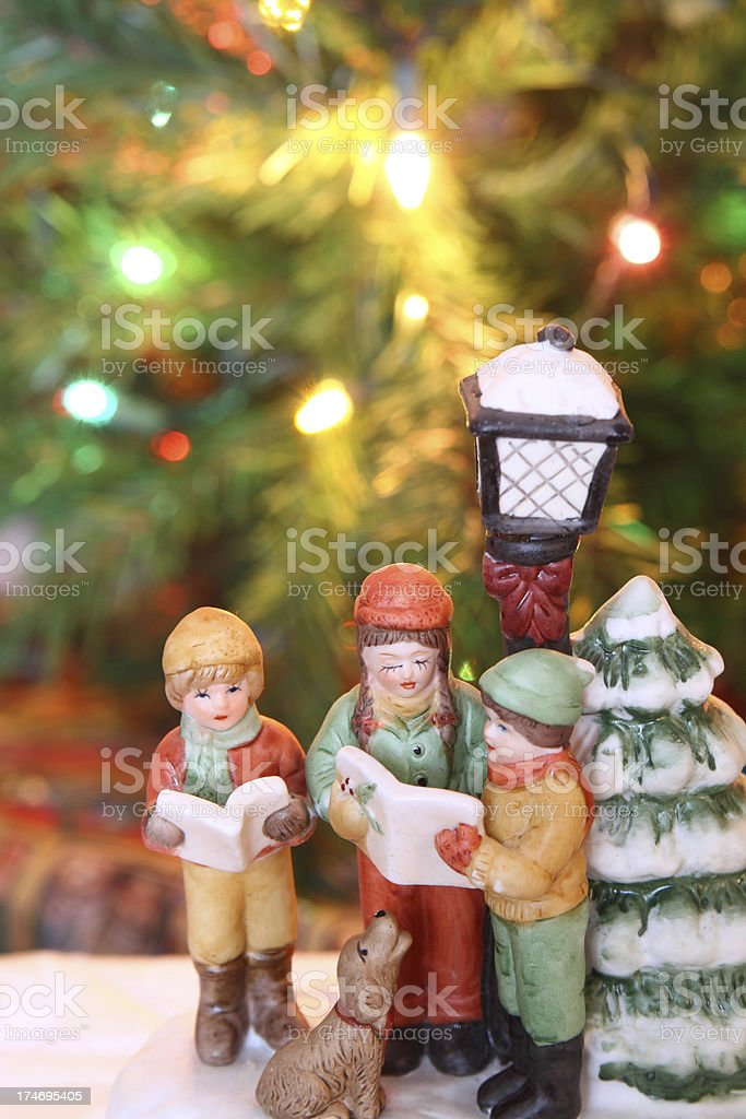 Christmas Carolers stock photo