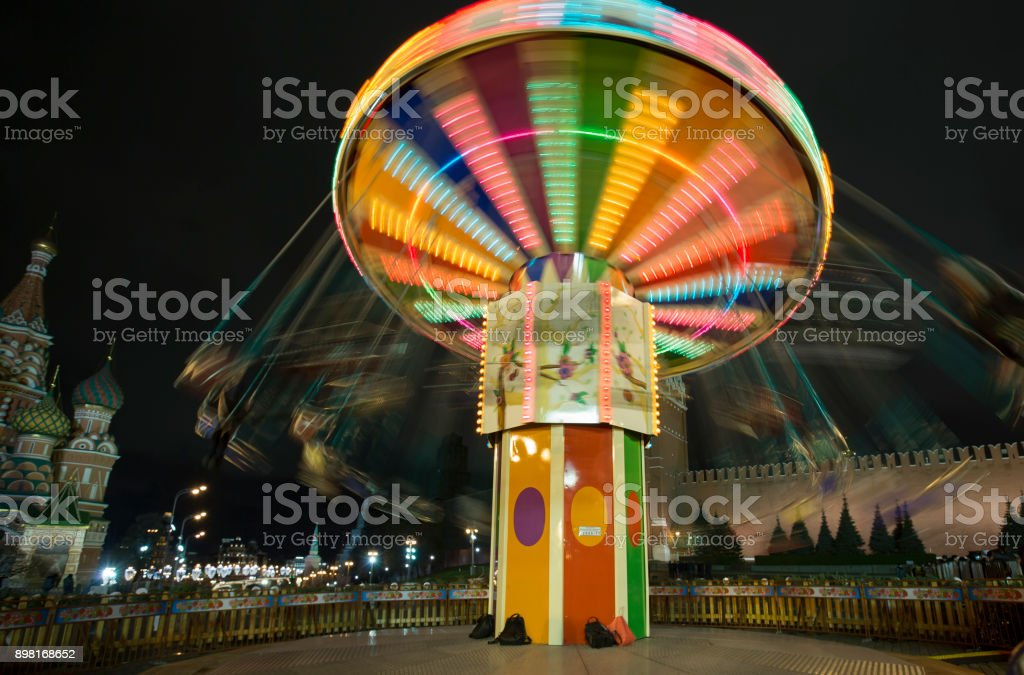 Christmas carousel royalty-free stock photo