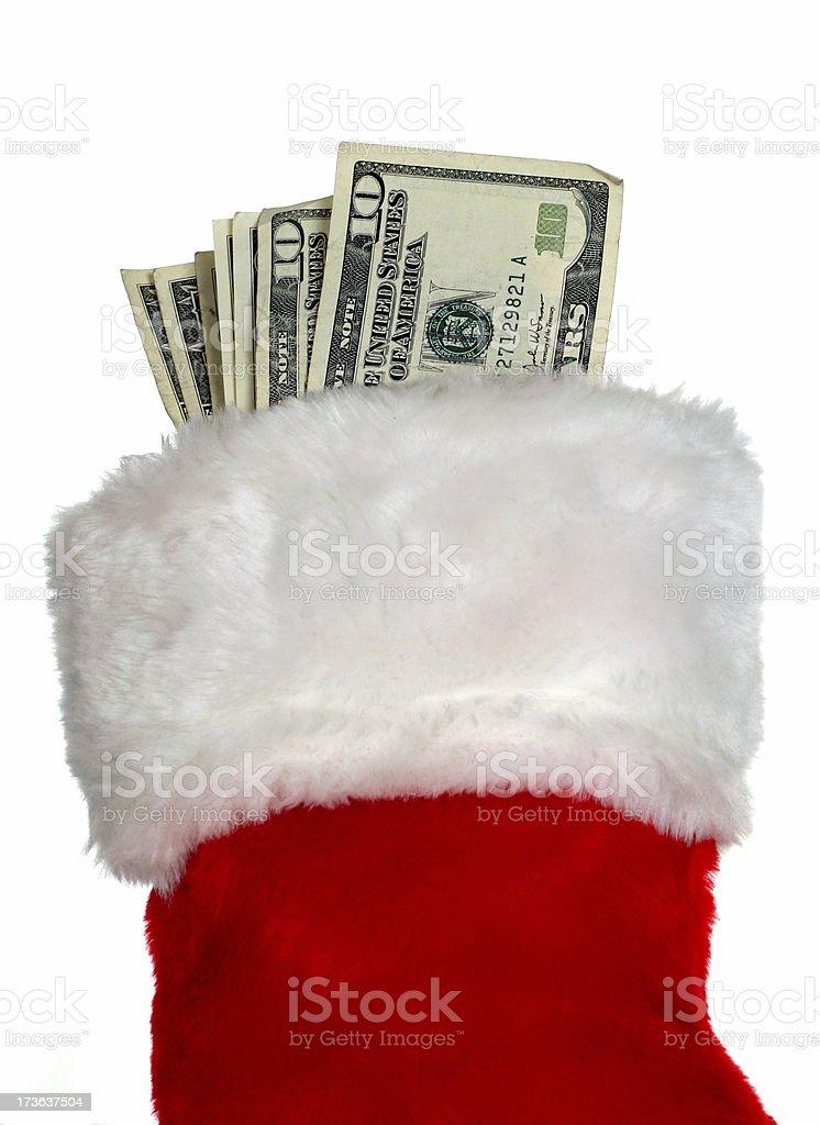 Christmas Cash royalty-free stock photo