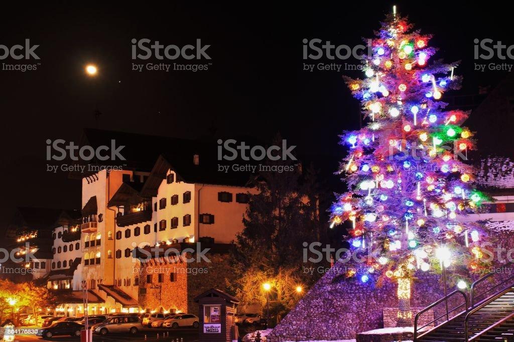Christmas celebration city landscape royalty-free stock photo