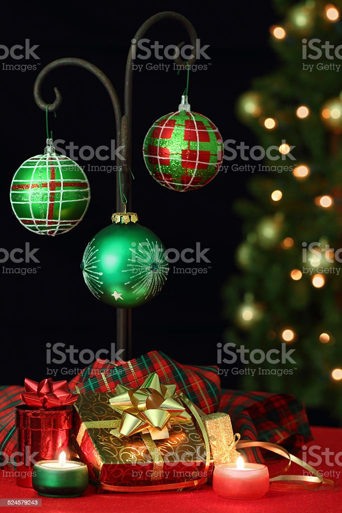 Christmas Centerpiece Decoration stock photo