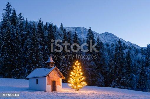 Chapel at Elmau between Garmisch-Partenkirchen and Mittenwald in Bavaria, Germany