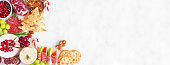 istock Christmas charcuterie corner border against a white marble banner background 1282334294