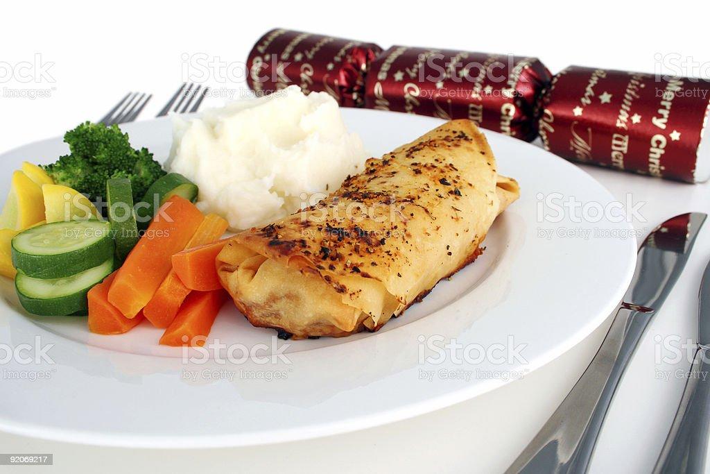 Christmas chicken filo royalty-free stock photo