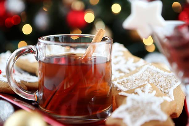 weihnachts-cider - apfelweinkuchen stock-fotos und bilder