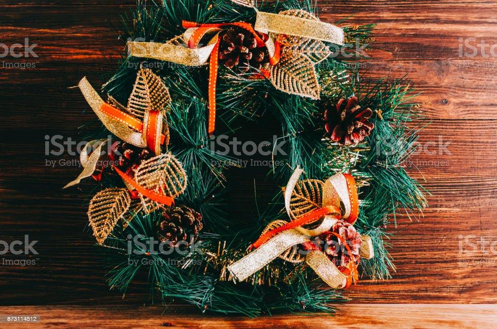 Christmas Circle Tree stock photo