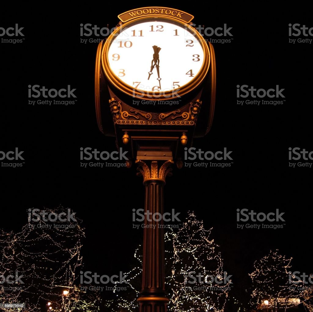 Christmas Clock stock photo