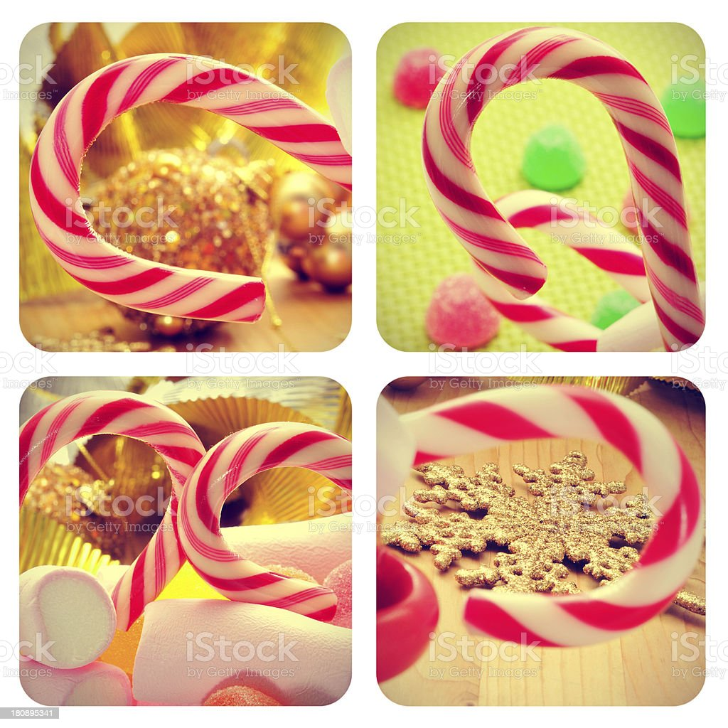 christmas collage royalty-free stock photo