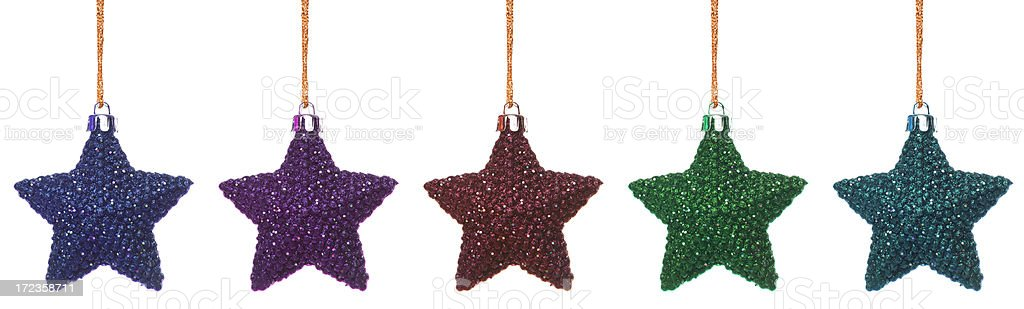 christmas colorful bauble set royalty-free stock photo