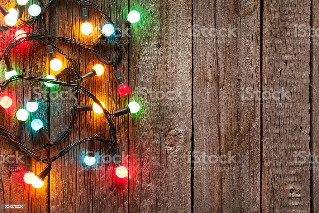 Christmas colorful lights stock photo