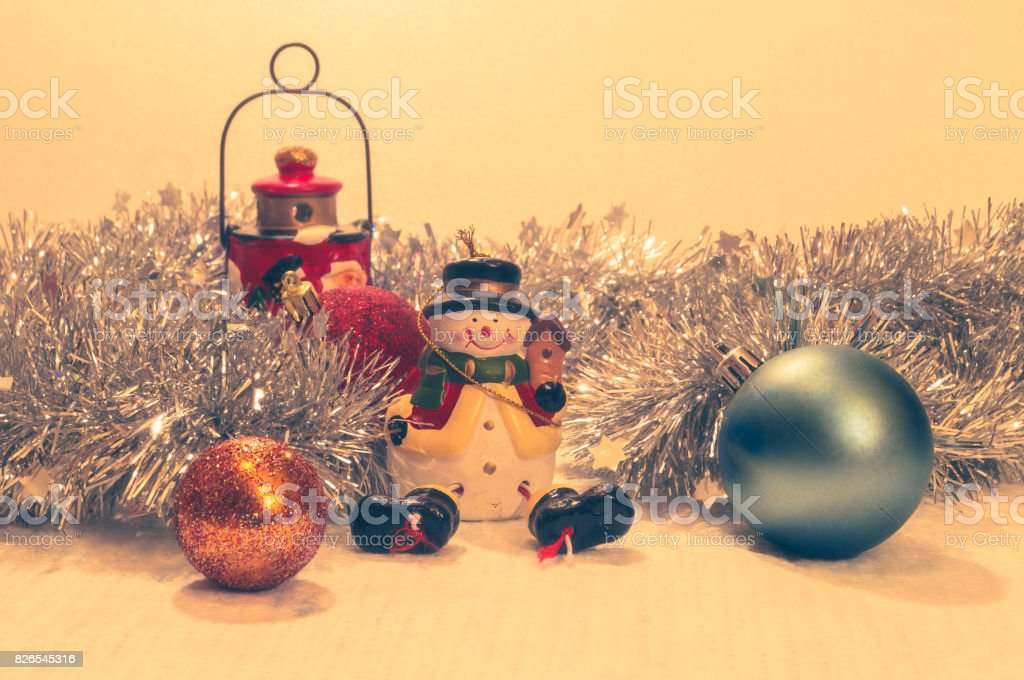 Christmas composition for greeting card stock photo
