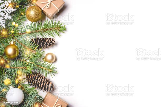 Christmas composition on white background picture id1167011520?b=1&k=6&m=1167011520&s=612x612&h=1wli0247yilpql2bl4phkz7hixbhrofv1vmkoje4nje=