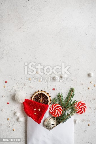 istock Christmas composition with envelop 1062969000
