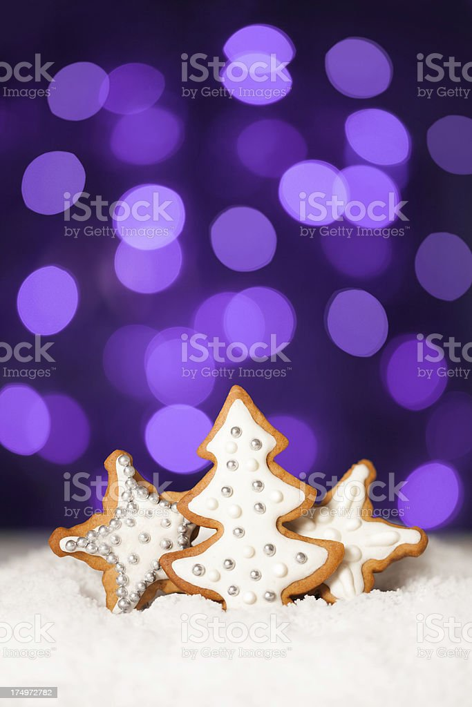 Christmas composition with gingerbread cookie royalty-free stock photo