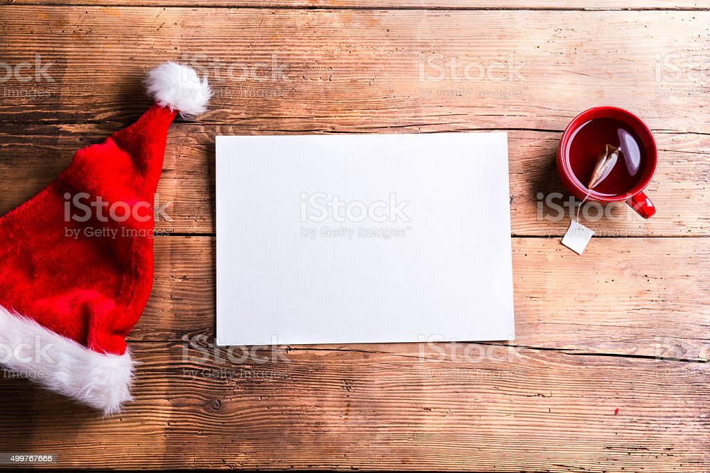 Christmas composition with various objects stock photo