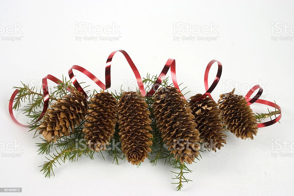 Christmas cones royalty-free stock photo