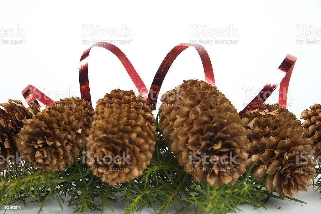 Christmas cones royalty-free stock photo
