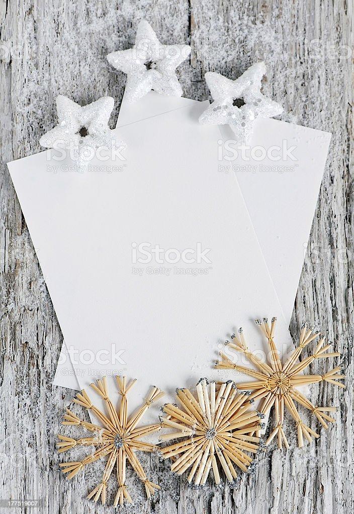 Christmas congratulation card stock photo