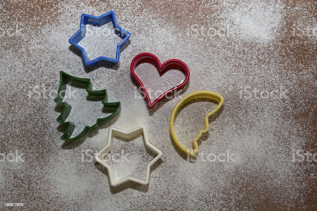 Christmas -cookie cutter stock photo