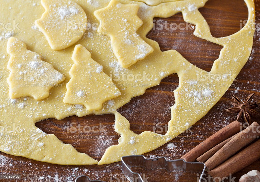 Christmas Cookie Dough Cookie Cutters Spices Stock Photo Download Image Now
