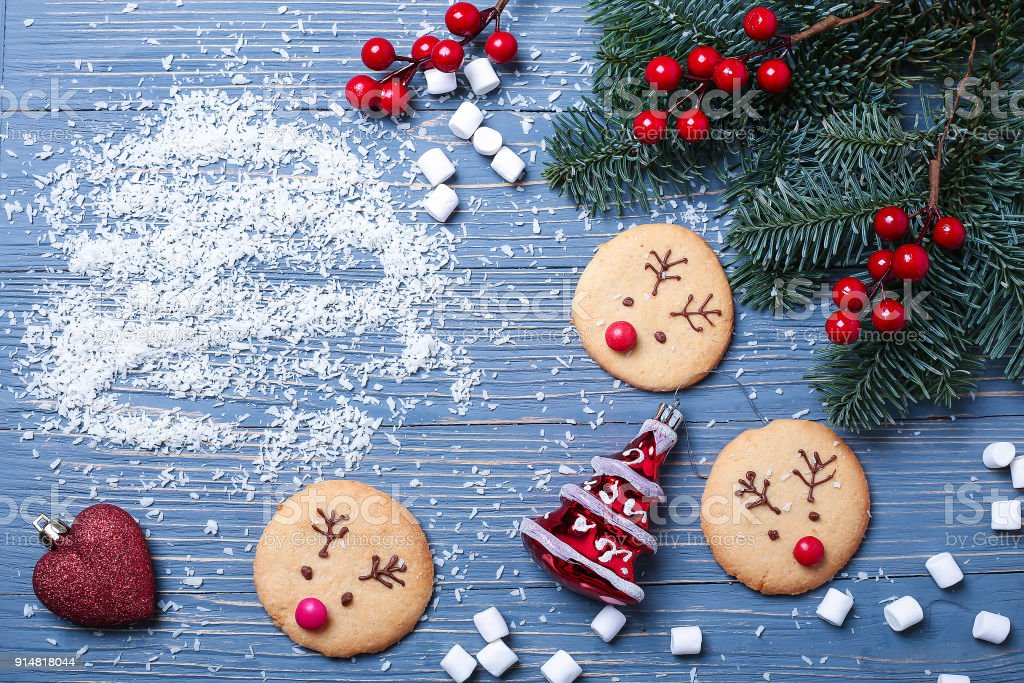 Christmas Cookies And Treats On The Table Sweet Gifts For Child Stock Photo Download Image Now
