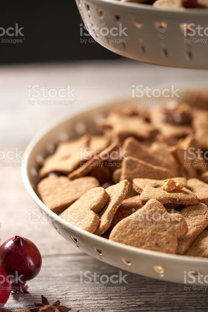 Christmas Cookies Close Up stock photo