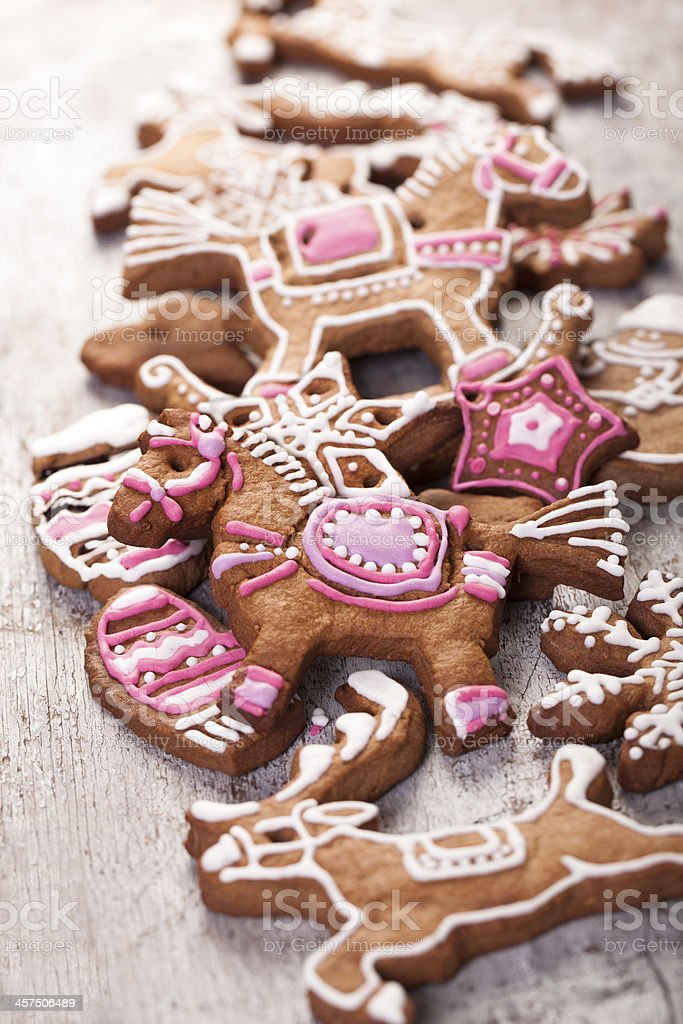 Christmas Cookies In The Shape Of A Horse Stock Photo Download Image Now Istock