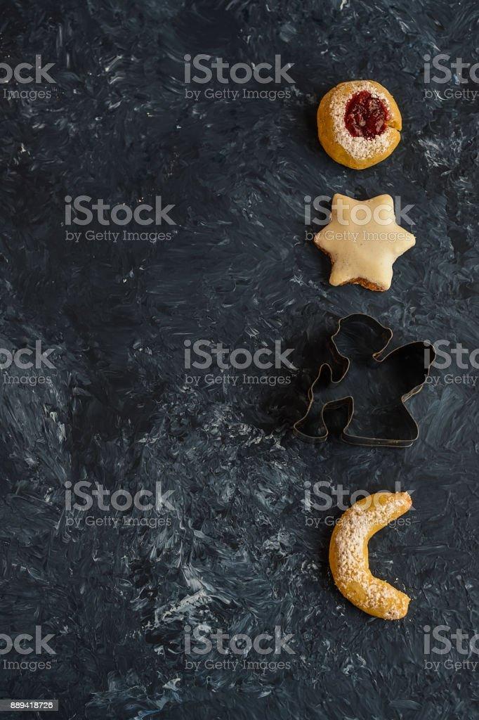 Christmas cookies isolated stock photo