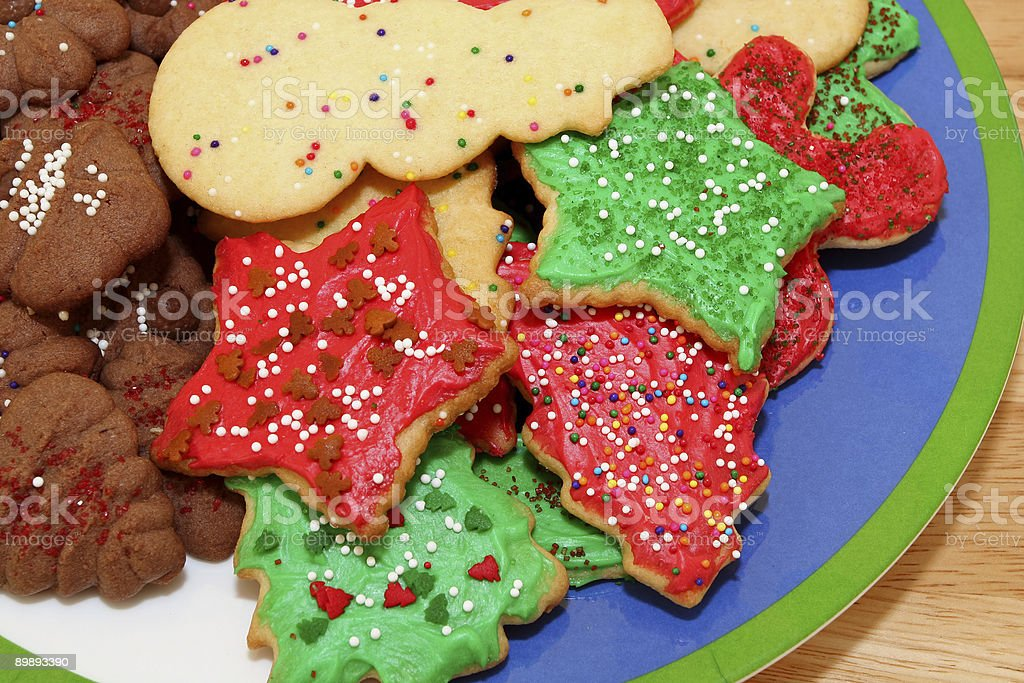 Christmas Cookies on a Plate royalty-free stock photo