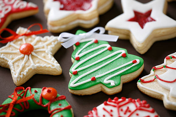 cookies de natal - bolachas imagens e fotografias de stock