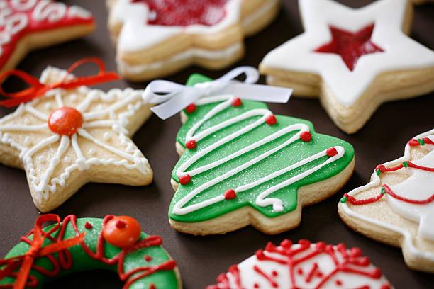 cookies de natal - christmas cookies imagens e fotografias de stock
