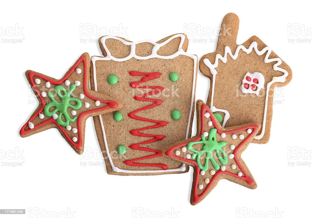 Christmas Cookies (Clipping Path) royalty-free stock photo