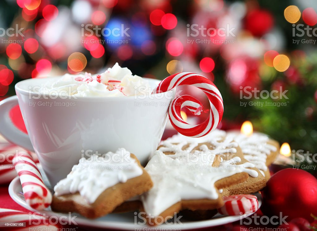 christmas cookies stock photo
