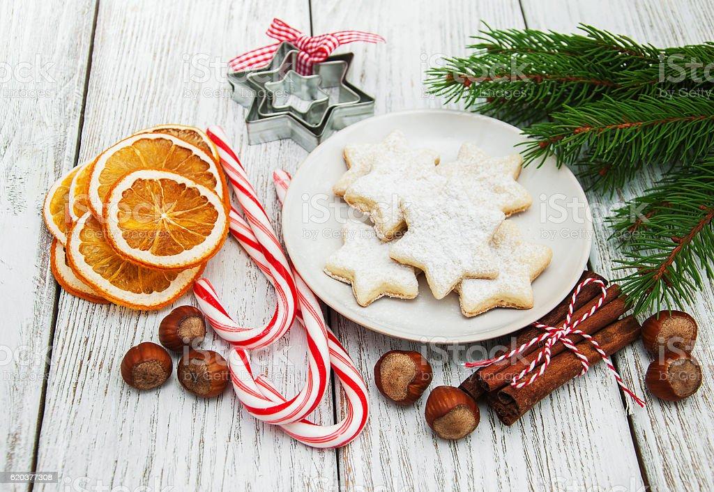 Christmas cookie  zbiór zdjęć royalty-free