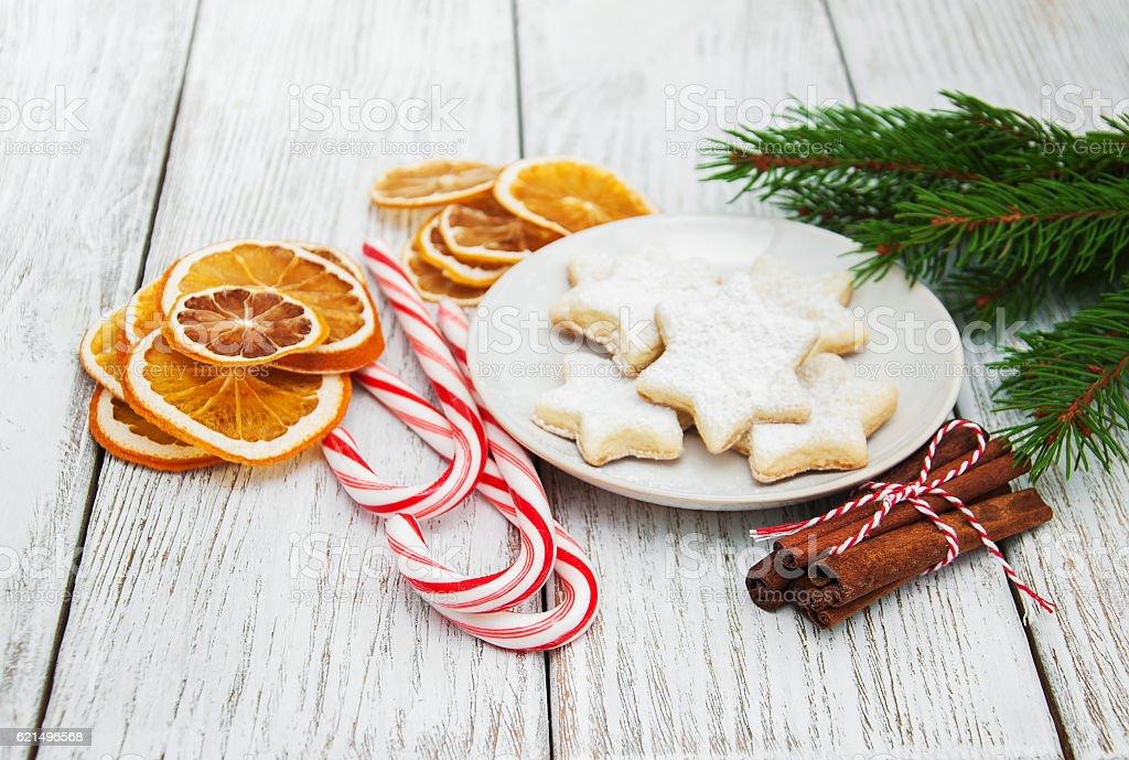 Gâteaux de Noël  photo libre de droits
