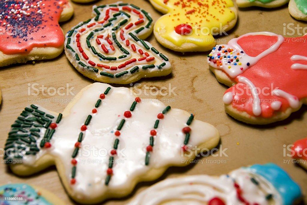 christmas cookies V royalty-free stock photo