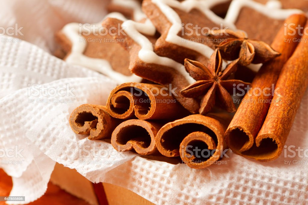 Christmas Cookies With Cinnamon And Anise Stock Photo Download