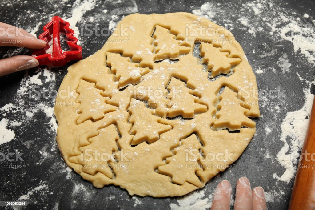 Christmas Cookies Xmas Homemade Baked Winter Biscuit Stock Photo