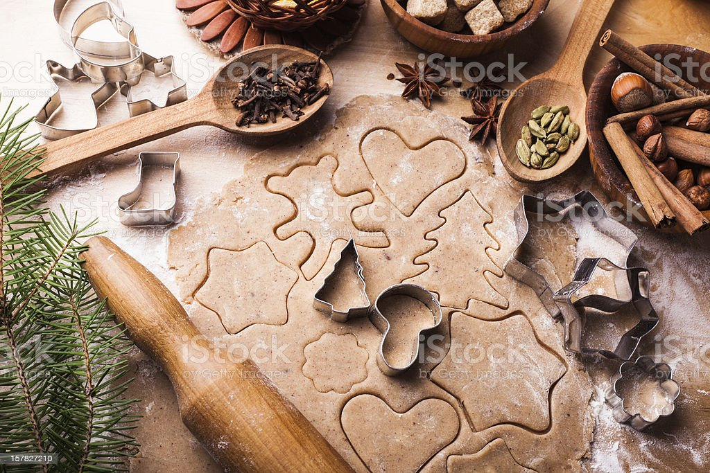 Christmas cooking stock photo