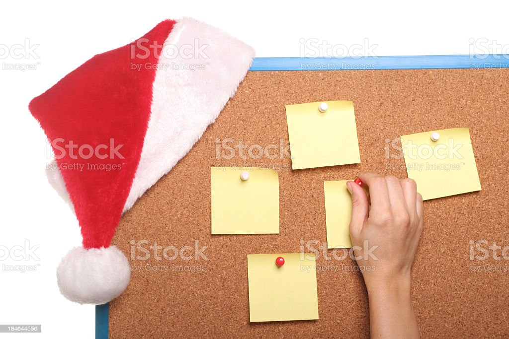Christmas Cork Board royalty-free stock photo