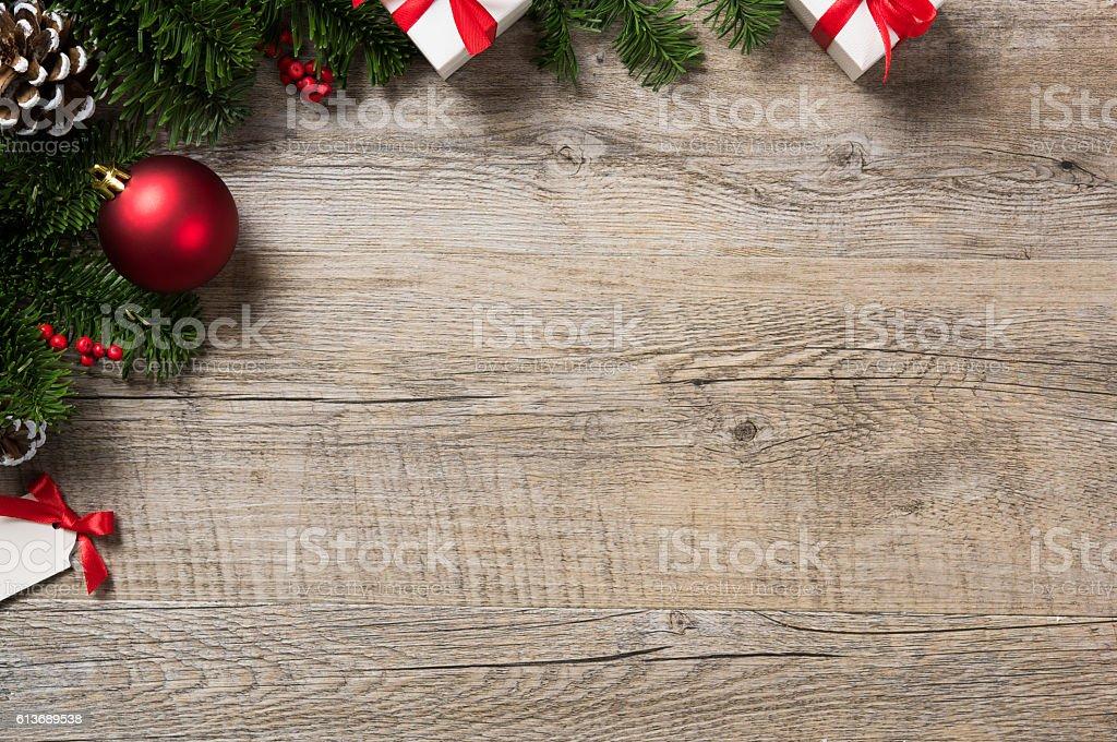 Christmas corner background - Photo