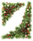 istock Christmas corners set. 517517977
