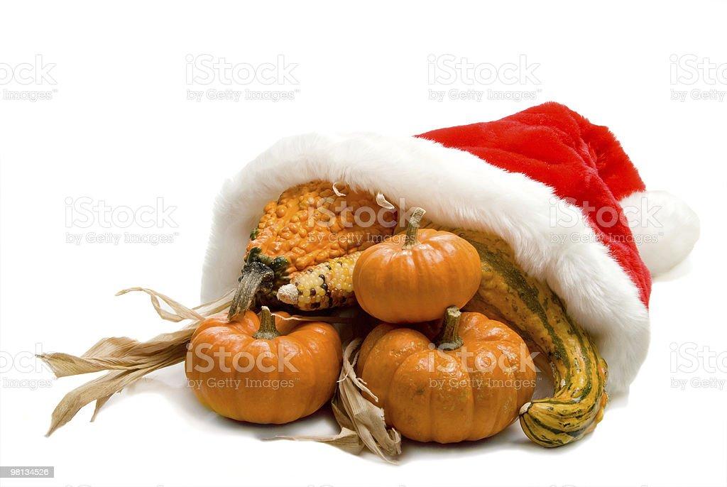 Natale Cornucopia foto stock royalty-free