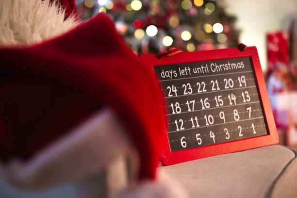 christmas countdown - countdown stock pictures, royalty-free photos & images