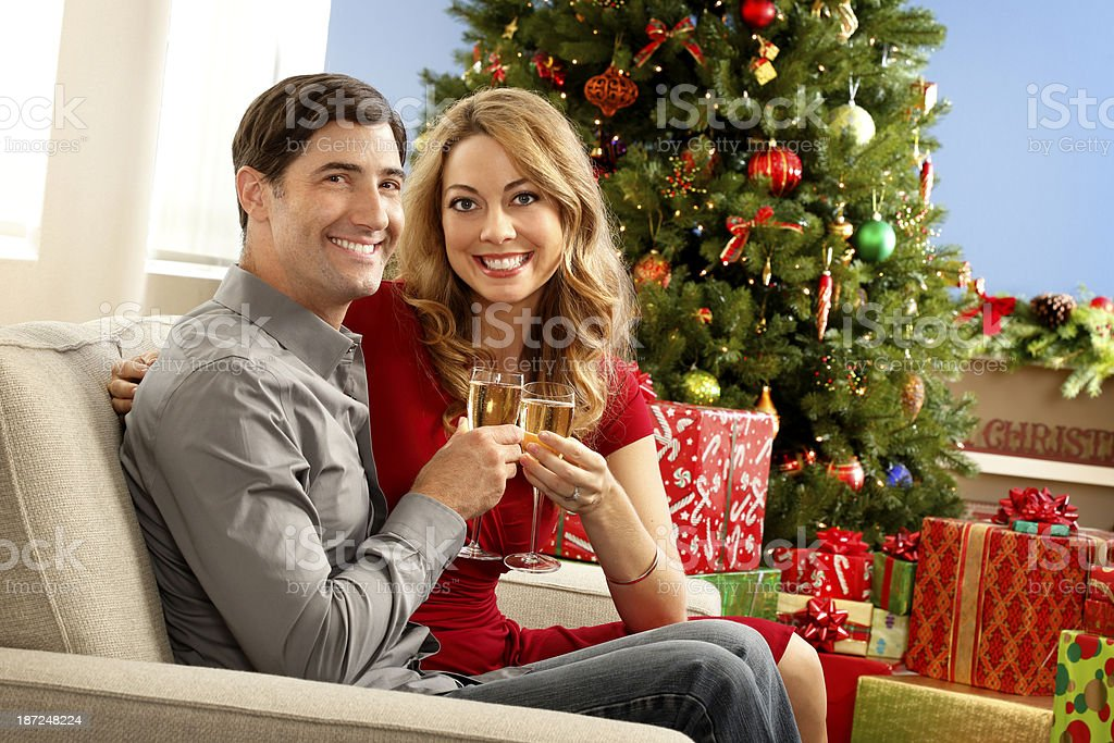 Christmas Couple royalty-free stock photo
