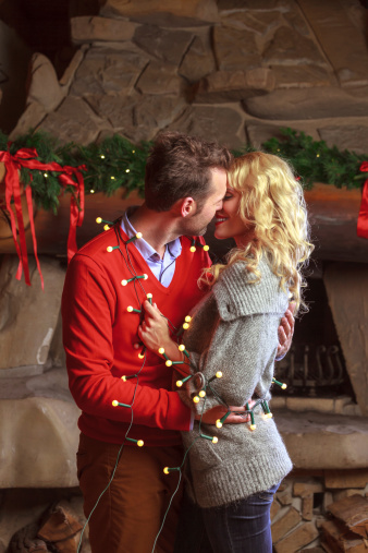Christmas Couple Stock Photo - Download Image Now