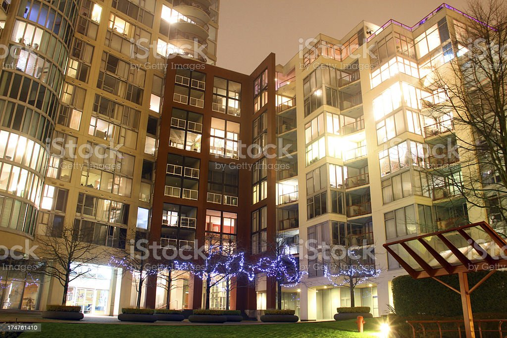 Christmas Courtyard royalty-free stock photo