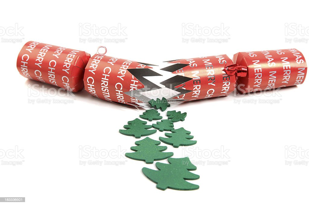 Christmas cracker stock photo