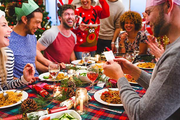 christmas cracker - deko geweih stock-fotos und bilder